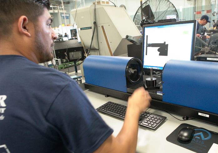 Quality control testing with the latest equipment - New Oasis Vision System